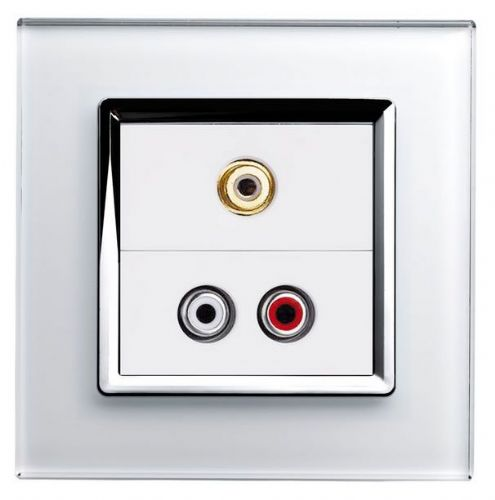 RetroTouch AUDIO / VIDEO Socket White Glass CT 00295